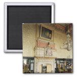 Interior de la sala de estar veneciana imán cuadrado