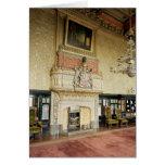 Interior de la sala de estar veneciana tarjeta de felicitación