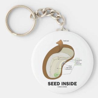 Interior de la semilla (materia en que pensar del  llavero redondo tipo pin