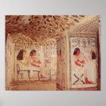 Interior de la tumba de Sennefer, nuevo reino Poster