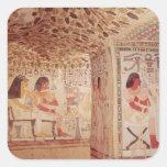Interior de la tumba de Sennefer, nuevo reino Pegatina Cuadradas