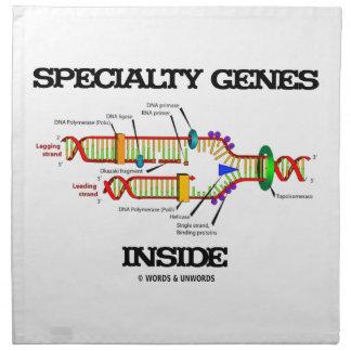 Interior de los genes de la especialidad (réplica  servilleta de papel