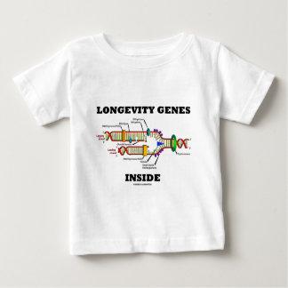 Interior de los genes de la longevidad (réplica de tshirt