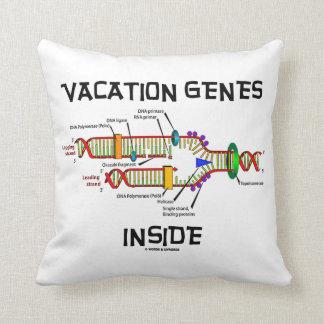 Interior de los genes de las vacaciones (réplica cojín