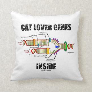 Interior de los genes del amante del gato (réplica cojín