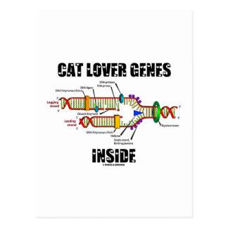 Interior de los genes del amante del gato (réplica tarjeta postal