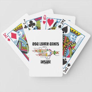 Interior de los genes del amante del perro baraja cartas de poker