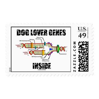 Interior de los genes del amante del perro estampilla