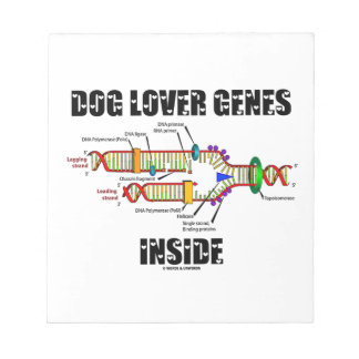 Interior de los genes del amante del perro libretas para notas