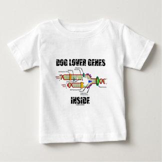 Interior de los genes del amante del perro playera para bebé