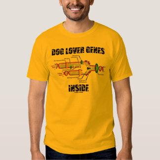 Interior de los genes del amante del perro remeras