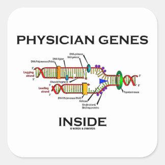 Interior de los genes del médico (réplica de la pegatina cuadrada