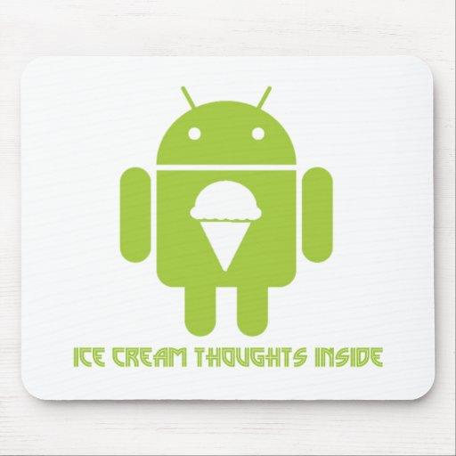 Interior de los pensamientos del helado (insecto a tapete de raton