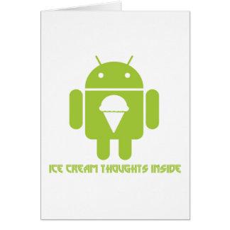 Interior de los pensamientos del helado insecto a tarjetas