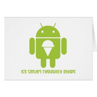 Interior de los pensamientos del helado insecto a felicitacion