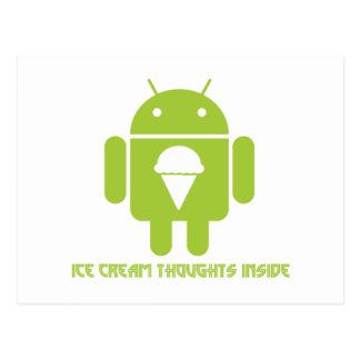 Interior de los pensamientos del helado insecto a postales