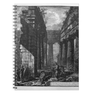 Interior de los pronaos del templo sí mismo libros de apuntes