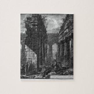 Interior de los pronaos del templo sí mismo rompecabeza