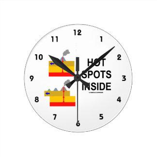 Interior de los puntos calientes (actitud de la reloj de pared