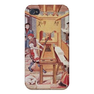Interior de los trabajos del siglo XVI de un ing iPhone 4 Funda