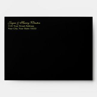 Interior de lujo del sobre w/Gold del negro A7 de
