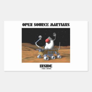 Interior de Open Source Martian (duque Rover) Rectangular Pegatinas