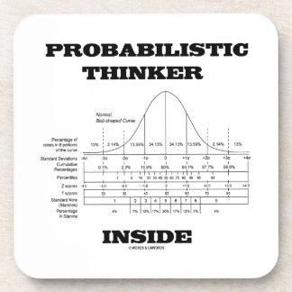 Interior de probabilidad del pensador (humor de la posavasos