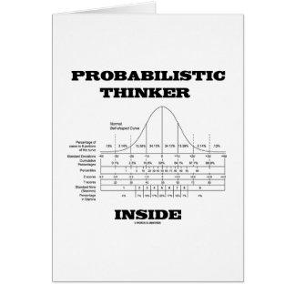 Interior de probabilidad del pensador (humor de la felicitacion