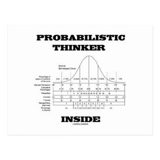 Interior de probabilidad del pensador (humor de la postal