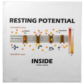 Interior de reclinación del potencial (transporte servilleta de papel