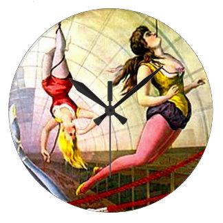 Interior de señora Vintage Circus Poster Art del t Reloj