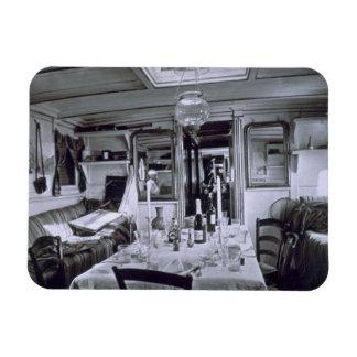Interior de un barco del Nilo (foto del b&w) Rectangle Magnet