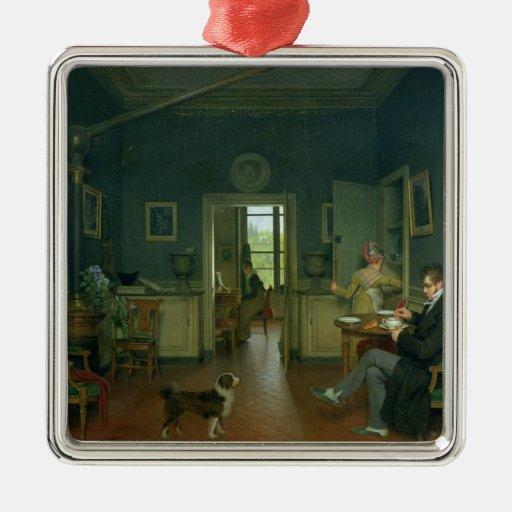 Interior de un comedor, 1816 ornamento de navidad
