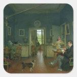 Interior de un comedor, 1816 pegatinas cuadradas