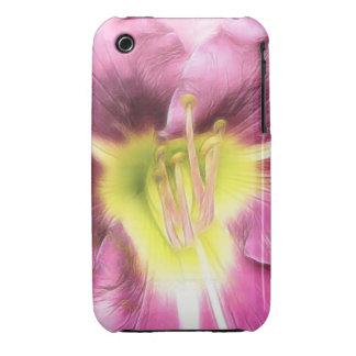 Interior de un Daylily de color de malva rizado iPhone 3 Case-Mate Protector