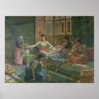 Interior de un Harem, c.1865 Póster