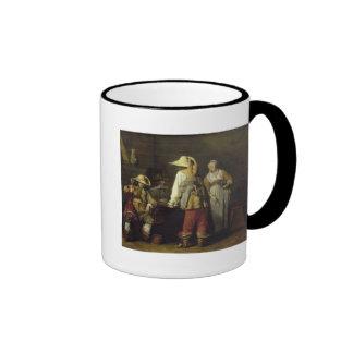 Interior de un mesón, 1636 taza de café