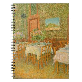 Interior de un restaurante de Vincent van Gogh Libretas Espirales