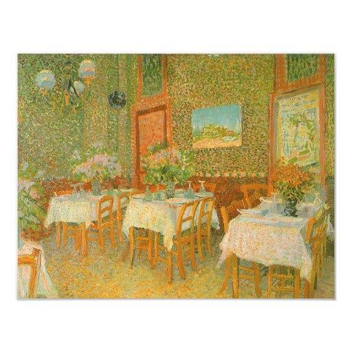 """Interior de un restaurante de Vincent van Gogh Invitación 4.25"""" X 5.5"""""""