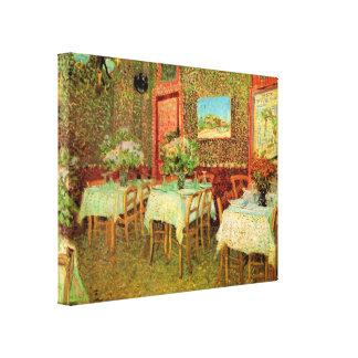 Interior de un restaurante de Vincent van Gogh Impresión En Lona
