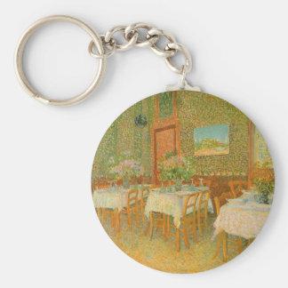 Interior de un restaurante de Vincent van Gogh Llavero Redondo Tipo Pin