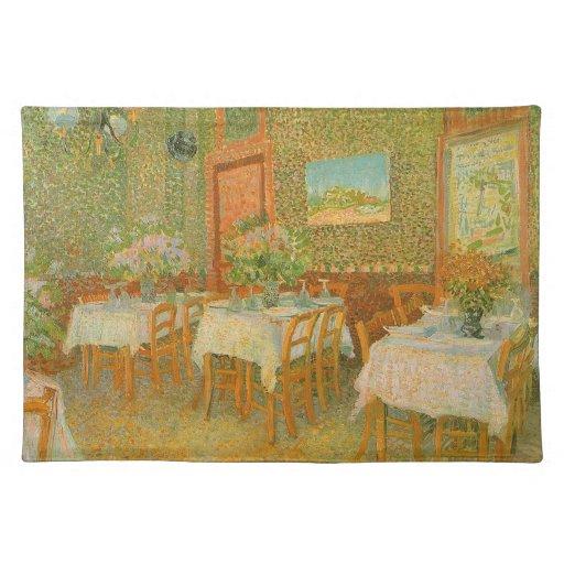 Interior de un restaurante de Vincent van Gogh Manteles Individuales