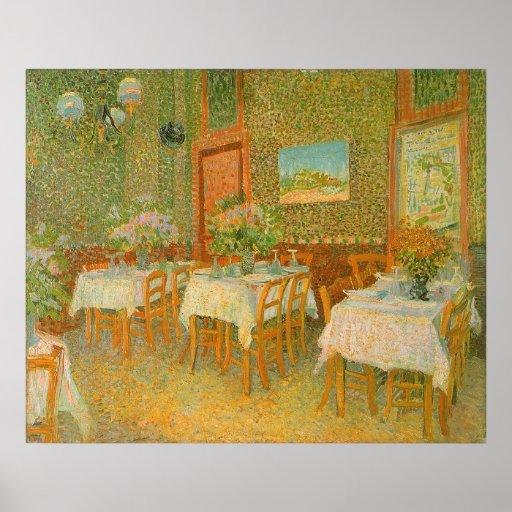 Interior de un restaurante de Vincent van Gogh Posters