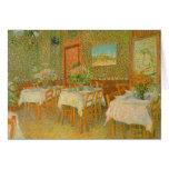 Interior de un restaurante de Vincent van Gogh Felicitaciones