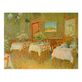 Interior de un restaurante de Vincent van Gogh Postales