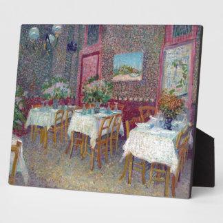 """""""Interior de un restaurante"""" por Vincent van Gogh Placa Para Mostrar"""