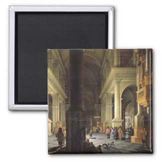 Interior de un templo, 1652 iman de nevera