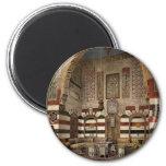 Interior de una casa, Damasco, Tierra Santa, (es d Imanes Para Frigoríficos
