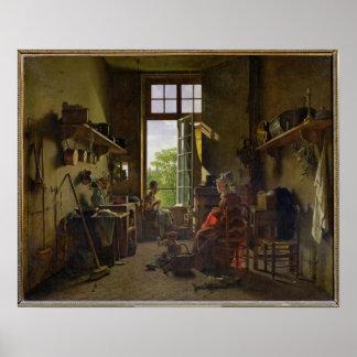 Interior de una cocina, 1815 poster