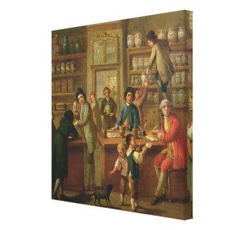 Interior de una farmacia lienzo envuelto para galerías